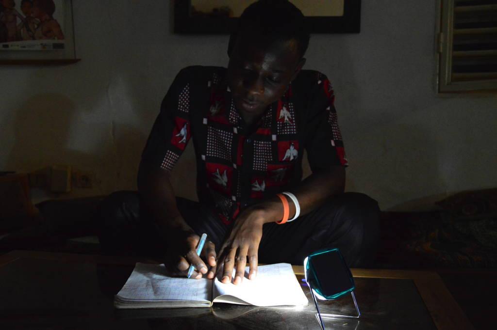 Little Sun Diamond in Senegal_studying_credit Little Sun